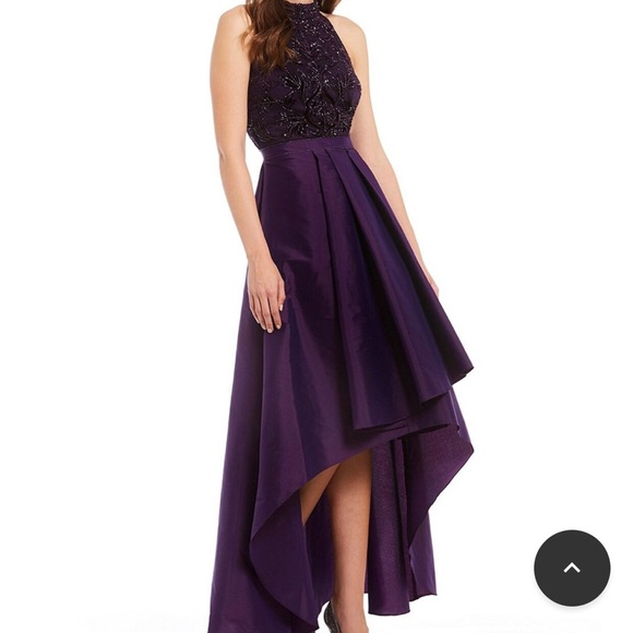 381bd30b18 Adrianna Papell Dresses   Skirts - Adrianna Papell- Taffeta Beaded High-Low  Gown